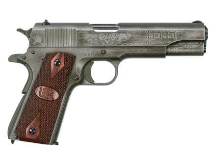 Auto Ordnance Fly Girls Custom 1911 .45 ACP Pistol, Blk/OD Green Cerakote - 1911BKOWC2