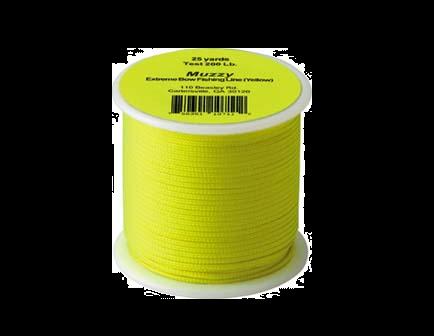 Muzzy Bright Yellow Bowfishing 75ft 200lb Line 1071-Y