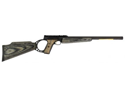 Browning Buck Mark Target Gray Laminate Muzzle Brake .22lr Semi-Automatic Rifle, Satin - 021044202