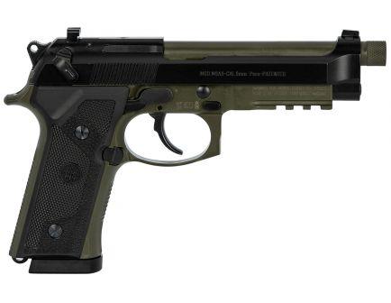 Beretta M9A3 Type F 9mm Pistol 17 Round, Green and Black - J92M9A3M1