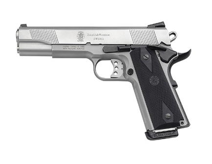 """Smith & Wesson SW1911 .45 ACP 5"""" Stainless Barrel Pistol 108282"""