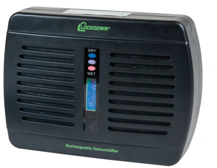 Lockdown Rechargeable Dehumidifier, Protects 333 cu/ft  - 1092878