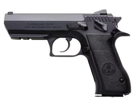 IWI Jericho 941 F9 Full Size 9mm Parabellum 10 Round Semi Auto Short Recoil Operated Pistol, Black - J941F910