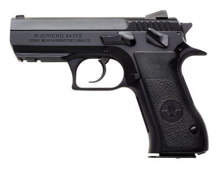 IWI Jericho 941 FS9 Mid-Size 9mm Parabellum 10 Round Semi Auto Short Recoil Operated Pistol, Black - J941FS910