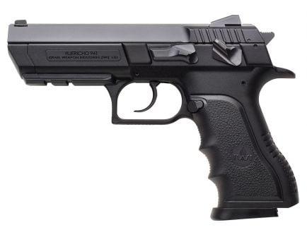 IWI Jericho 941 PL9 Full Size 9mm Parabellum 10 Round Semi Auto Short Recoil Operated Pistol, Black - J941PL910