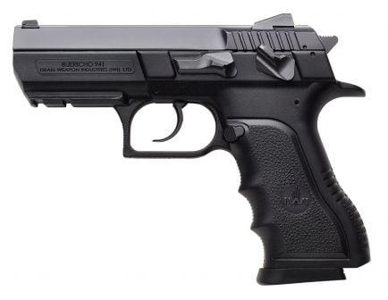 IWI Jericho 941 PSL9 Mid-Size 9mm Parabellum 10 Round Semi Auto Short Recoil Operated Pistol, Black - J941PSL910