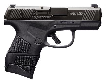 Mossberg MC1sc TruGlo Tritium Pro Sights Subcompact 9mm 6 Flush-Fit/7 Extended Pistol, Matte Black - 89003