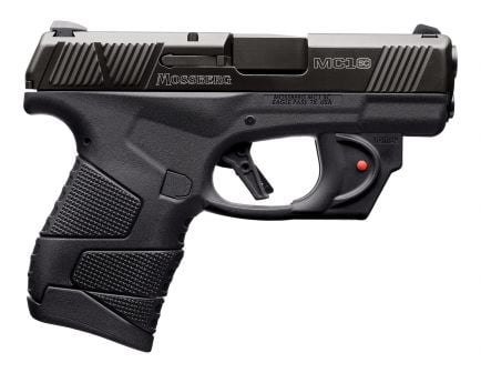Mossberg MC1sc Viridian Laser Equipped Subcompact 9mm 6 Flush-Fit/7 Extended Pistol, Matte Black - 89004