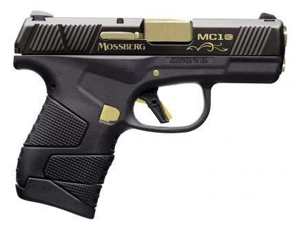 Mossberg MC1sc Centennial Subcompact 9mm 6 Flush-Fit/7 Extended Pistol, Titanium Nitride - 89005