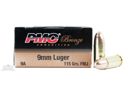 PMC Bronze 9mm 115gr FMJ Ammunition 50rds - 9A