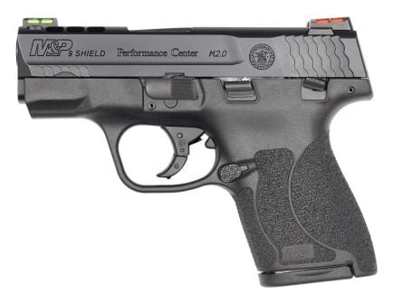 S&W M&P Shield 2.0 Performance Center Ported 9mm Pistol with Hi Viz Sights, Black - 11867