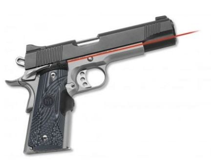 Crimson Trace 1911 Government/Commander - G10 Black/Grey - NEW - Lasergrip, Front Activation LG-904