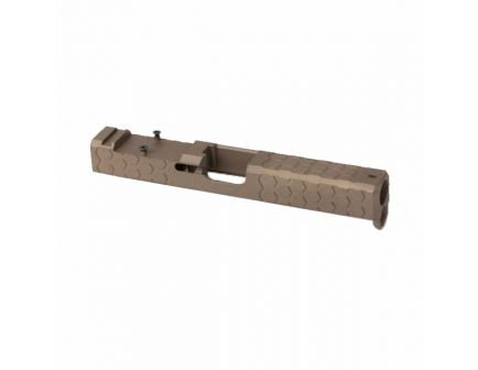 ZEV HexCut FDE Glock 19 Gen3 Slide, Cowitness w/ RMR Plate – SLD-Z19-3G-HEX-RMR-CW.ABS-FDE