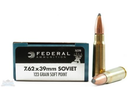 Federal 7.62x39mm 123gr SP RN Power-Shok Ammunition - 76239B