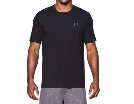 Under Armour Men's Charged Cotton Sportstyle T-Shirt, Black (Small) - 1257616-001