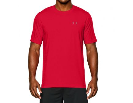 Under Armour Men's Charged Cotton Sportstyle T-Shirt, Red (Large) - 1257616-600