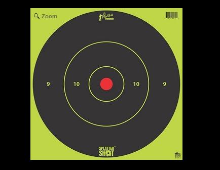 """Pro-Shot Splatter Shot 12"""" Green Bull's-Eye Target - Tag Paper - 5 Pack - 12B-Green-TG-5"""