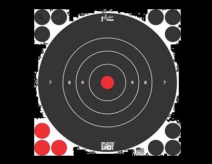 """Pro-Shot Splatter Shot 8"""" White Bull's-Eye Target - Peel and Stick - 6 Pack - 8B-WHTE-6PK"""