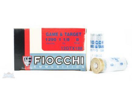 """Fiocchi 12ga 2.75"""" 1-1/8oz #8 Game Load Shotshell Ammunition 25rds - 12GTX188"""