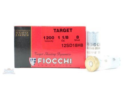 "Fiocchi 12ga 2.75"" 1-1/8oz #8 Target Shotshell Ammunition 25rds - 12SD18H8"
