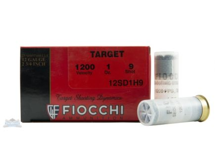 Fiocchi 12ga 2.75 1oz #9 Target Shotshell Ammunition 25rds - 12SD1H9
