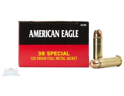 American Eagle 38 Special 130gr FMJ Ammunition 50rds - AE38K