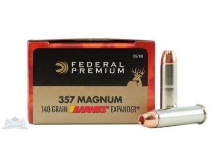 Federal 357 Magnum 140gr Barnes X Expander Vital-Shok Ammunition 20rds - P357XB1