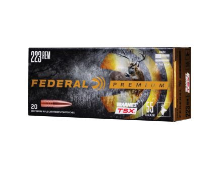 Federal 223 55gr Triple Shok Ammunitiion 20rds - P223S