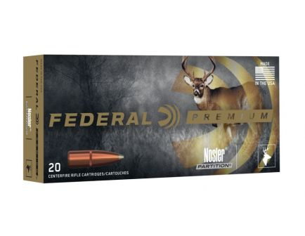 Federal 257 Roberts+P 120gr Nosler Partition Vital-Shok Ammunition 20rds - P257B