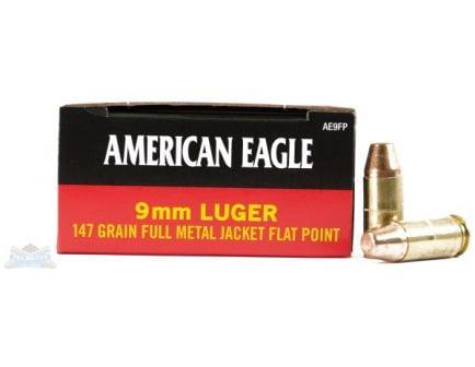 American Eagle 9mm 147gr FMJ FP Ammunition 50rds - AE9FP