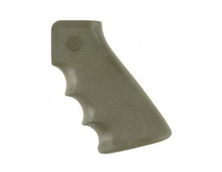 Hogue AR Platform Overmolded AR-15 Grip with Finger Grooves in OD Green