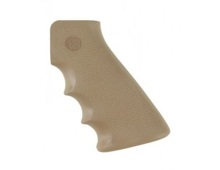 Hogue Platform Overmolded AR-15 Grip with Finger Grooves in Desert Tan