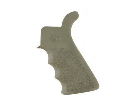 Hogue Overmolded Beaver Tail AR-15 Pistol Grip with Finger Grooves in OD Green