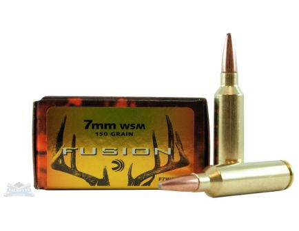 Federal 7mm WSM 150gr Fusion Ammunition 20rds - F7WSMFS1