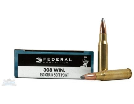 Federal 308 150gr SP Power-Shok Ammunition 20rds - 308A