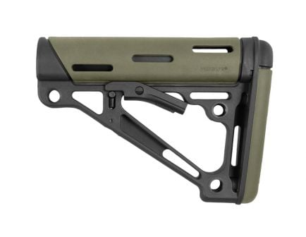 Hogue Overmolded Collapsible AR-15 Stock in Green