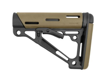Hogue Overmolded Collapsible AR-15 Stock in Tan