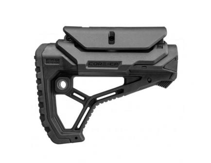 FAB DEFENSE GL-Core Buttstock with Cheek Rest, Black - FX-GLCORECPB