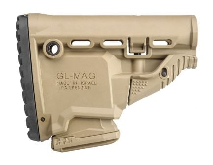 FAB Defense GL-MAG M4 Survival Stock with Built-In Magazine Carrier, Flat Dark Earth - FX-GLMAGT