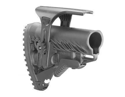 FAB Defense GLR-16 AR-15 Tactical Stock with Adjustable Cheek Rest, Black - FX-GLR16CP