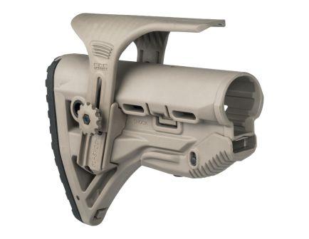 FAB Defense GL-Shock AR-15 Shock Absorbing Stock with Cheek Riser, Flat Dark Earth - FXGLSHOCKCP