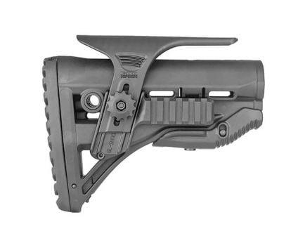 FAB Defense GL-Shock PCP M4/AR-15 Buttstock w/ Picatinny Cheek Rest, Black - FX-GLSHOCKPC