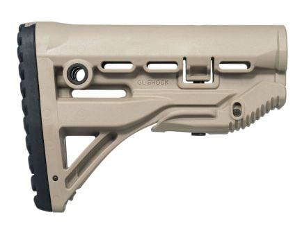 FAB Defense GL-Shock Adjustable Polymer M4 Rifle Stock, Flat Dark Earth - FDE-FX-GLSHOCKT