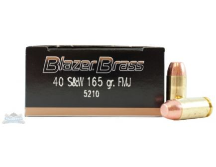 CCI Blazer Brass 40 S&W 165gr FMJ Ammunition 50rds - 5210