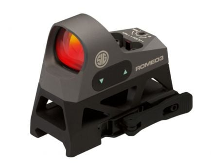 Sig Sauer Romeo3 1x25mm 3 MOA Reflex Sight With High-Rise Co-Witness Mount