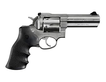 Ruger GP100 Standard .357 Mag Revolver, Stainless w/ Black Rubber Grips - 1705