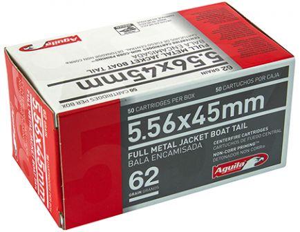 Aguila 5.56mm 62gr FMJBT Ammunition 50rds - 1E556110