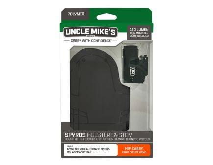 Uncle Mikes Spyros Holster System w/ Ambidextrous Hip Holster & 150 Lumen Light - 99001LBA