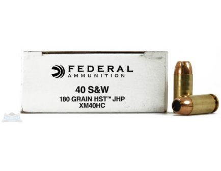 Federal 40 S&W 180gr JHP Ammunition 50rds  - XM40HC