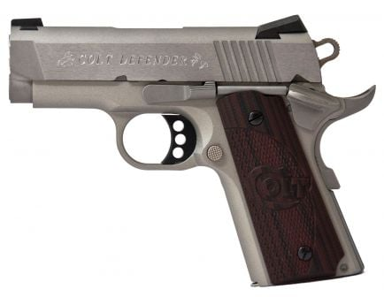 Colt Defender 45 ACP Pistol | Brushed Stainless